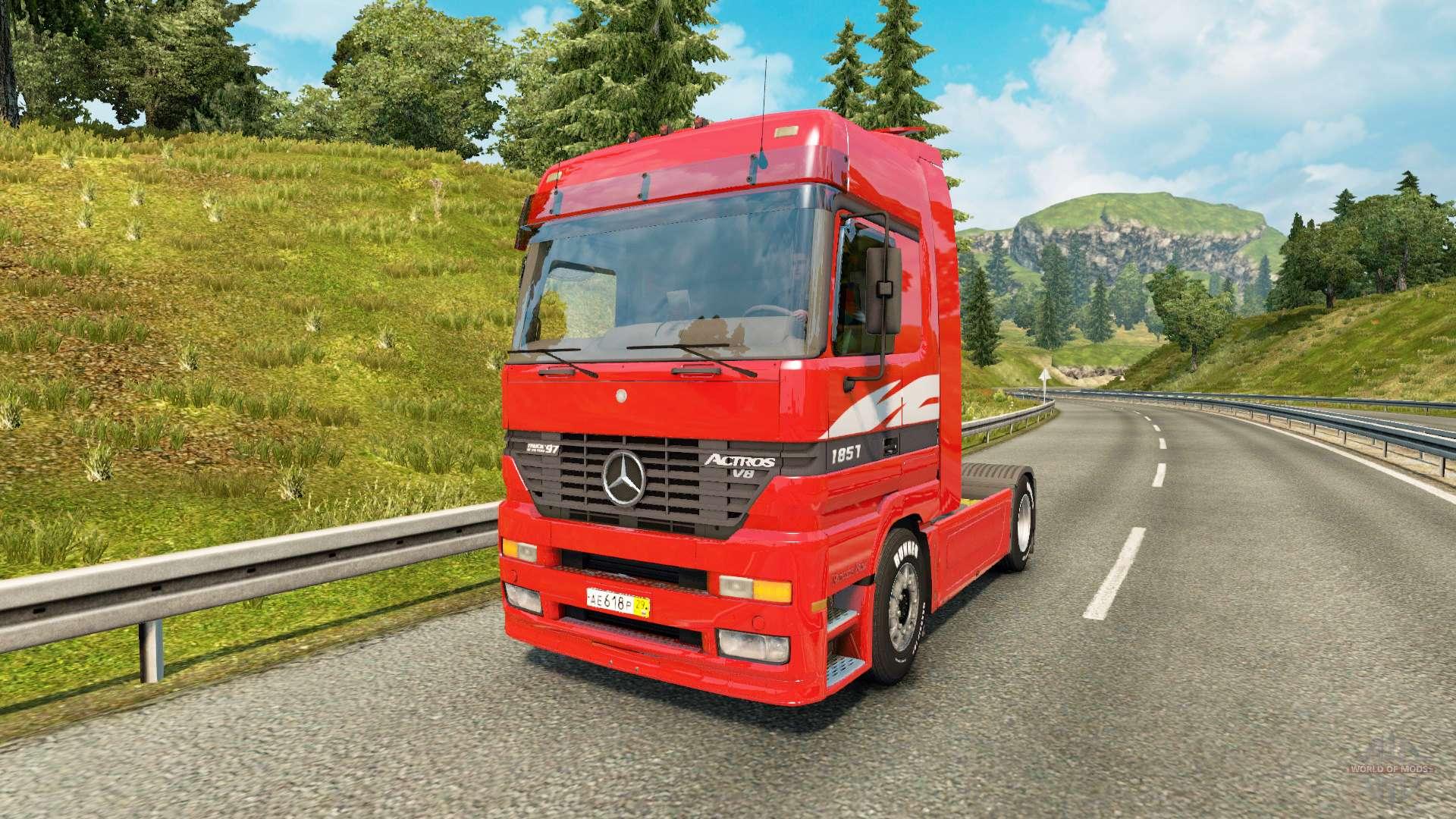 mercedes benz actros mp1 v2 1 for euro truck simulator 2. Black Bedroom Furniture Sets. Home Design Ideas