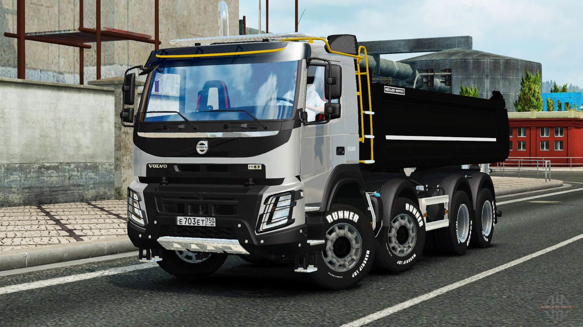 volvo fmx meiller kipper for euro truck simulator 2. Black Bedroom Furniture Sets. Home Design Ideas