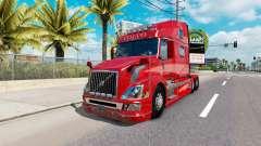 Skin Red Fantasy v2.0 for Volvo truck VNL 780