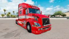 Skin Red Fantasy on the truck Volvo VNL 780