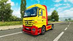 Skin DHL for tractor Mercedes-Benz