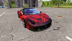 Ferrari 458 Italia fireskin for Farming Simulator 2017