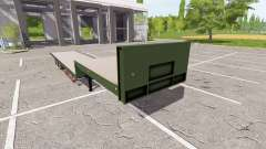 Flatbed low loader for Farming Simulator 2017