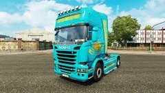 The skin Kazakhstan for tractor Scania
