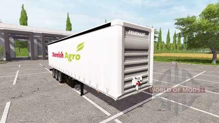 Semitrailer Danish Agro for Farming Simulator 2017