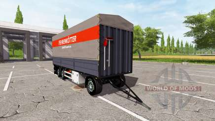 Flatbed trailer for Farming Simulator 2017