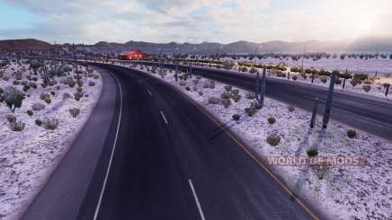 Frosty winter weather v2.1 for American Truck Simulator