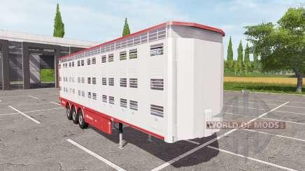 Michieletto livestock trailer v1.1 for Farming Simulator 2017