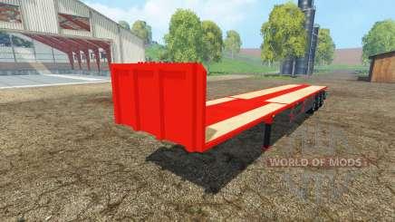 Semitrailer platform for Farming Simulator 2015