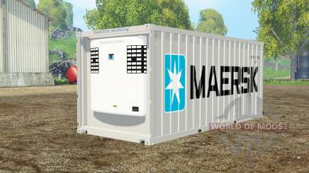 Container reefer 20ft Maersk for Farming Simulator 2015