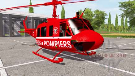 Bell UH-1D sapeurs-pompiers for Farming Simulator 2017