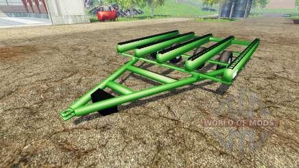 Bale trailer John Deere for Farming Simulator 2015