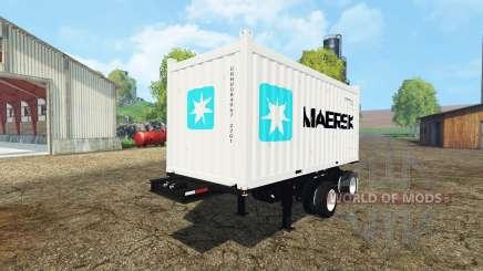 Container semitrailer for Farming Simulator 2015