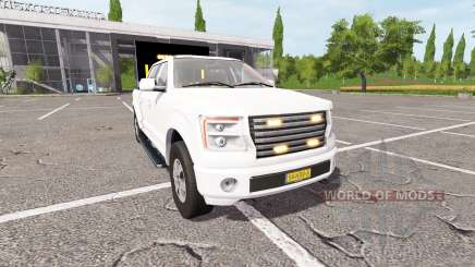 Lizard Pickup TT traffic advisor for Farming Simulator 2017