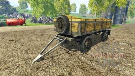 Old flatbed trailer v2.2 for Farming Simulator 2015