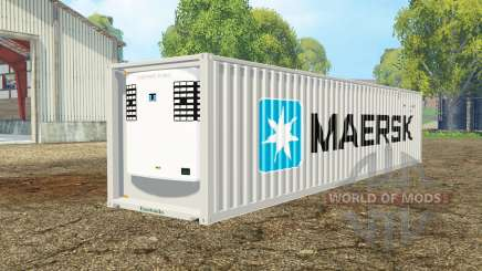 Container reefer 40ft Maersk for Farming Simulator 2015
