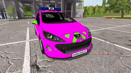 Peugeot 308 (T7) Police v1.3 for Farming Simulator 2017
