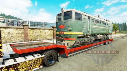 Semi-trailers with zeleznodoroznyj the line v1.7 for Euro Truck Simulator 2