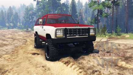 Dodge Ramcharger 1982 for Spin Tires