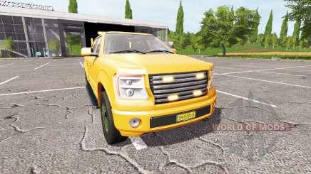 Lizard Pickup TT traffic advisor v1.2 for Farming Simulator 2017