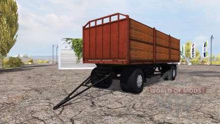 Flatbed trailer MAZ for Farming Simulator 2013