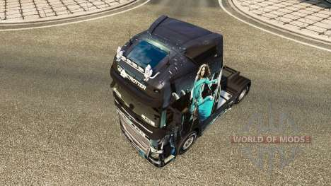 Blue Girl skin for Volvo truck for Euro Truck Simulator 2