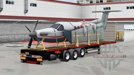 The semi-platform with the cargo for American Truck Simulator