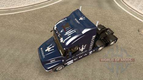 The skin of the Maserati on the truck Iveco Stra for Euro Truck Simulator 2