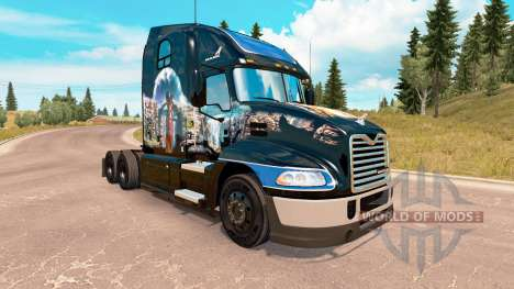Skin Indian Summer on the Mack Pinnacle tractor for American Truck Simulator
