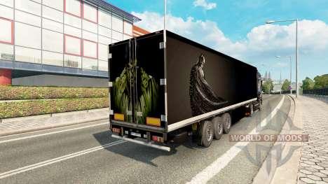 Skin Batman & Hulk on the trailer for Euro Truck Simulator 2