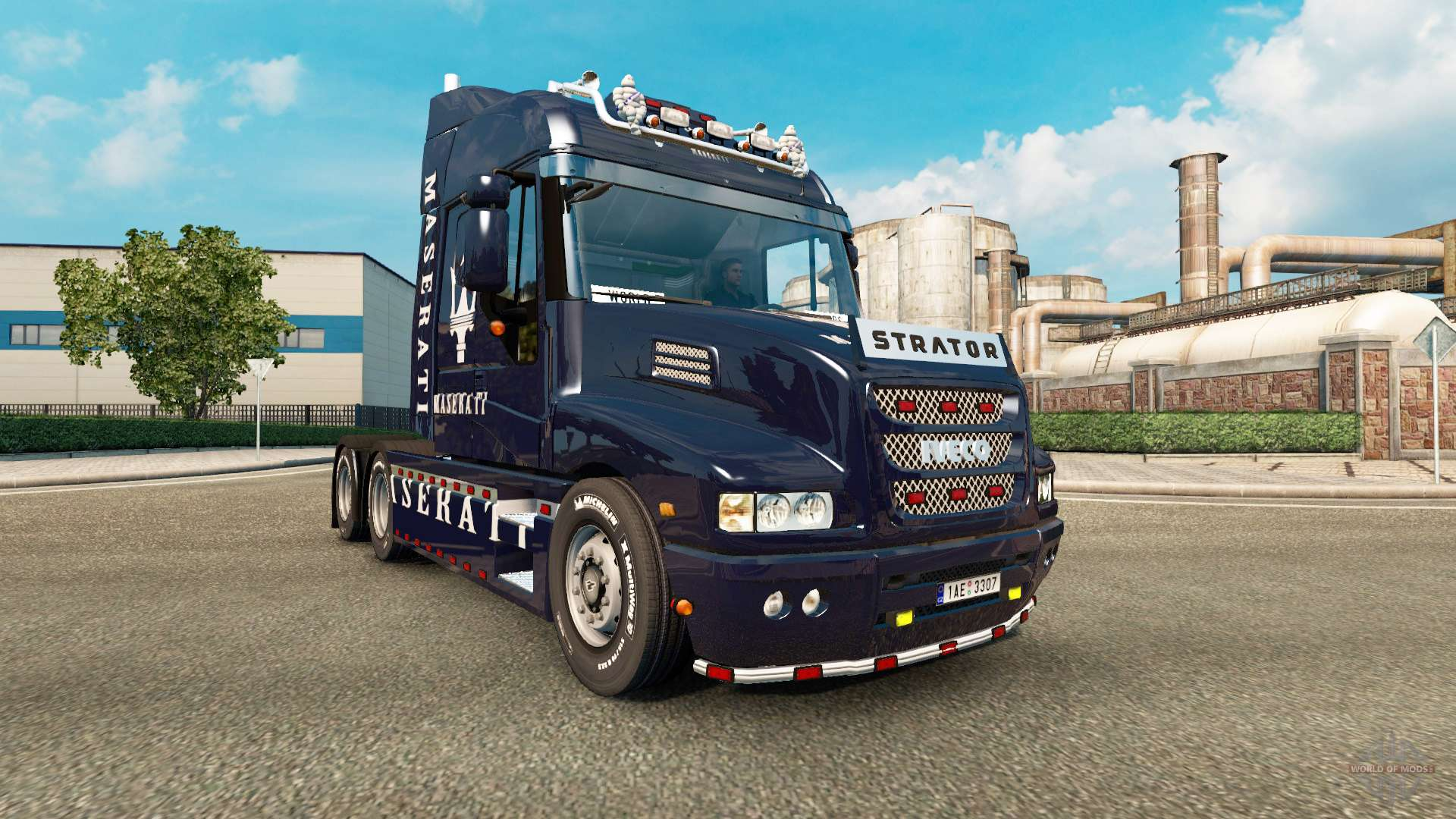 The skin of the Maserati on the truck Iveco Strator for ...