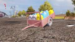Seeds and fertilizer trailer for Farming Simulator 2013