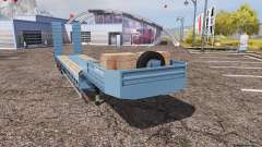 Lowboy blue for Farming Simulator 2013