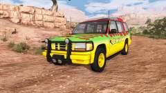 Gavril Roamer Tour Car Jurassic Park v0.7 for BeamNG Drive