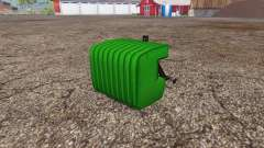 Switchable weight plates for Farming Simulator 2015