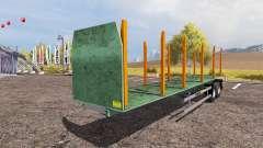 Forestry semitrailer