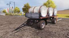 Trailer with barrels milk and water v2.0 for Farming Simulator 2013