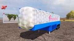 Milk tank semitrailer v1.01 for Farming Simulator 2013