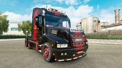 Skin Ferrari on the truck Iveco Strator