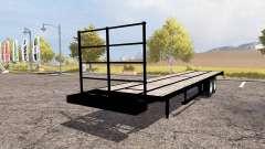 Flatebed trailer v1.1 for Farming Simulator 2013