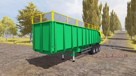 Silage semitrailer for Farming Simulator 2013