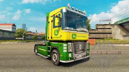Skin John Deere tractor Renault Magnum for Euro Truck Simulator 2