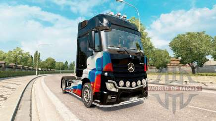 Skins Russian flag on the Mercedes-Benz Actros MP4 for Euro Truck Simulator 2