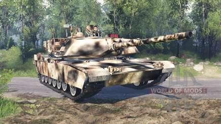 M1 Abrams desert camo for Spin Tires