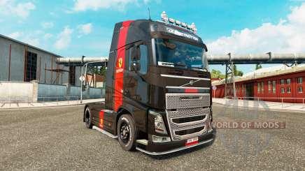 Ferrari skin for Volvo truck for Euro Truck Simulator 2