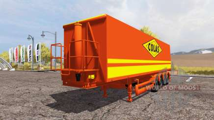 Tipper semitrailer Colas for Farming Simulator 2013