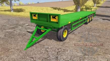 NC Engineering bale trailer for Farming Simulator 2013