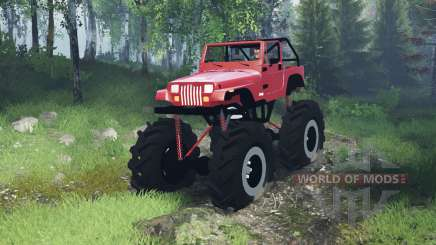 Jeep Wrangler (YJ) mega for Spin Tires