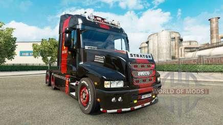 Skin Ferrari on the truck Iveco Strator for Euro Truck Simulator 2