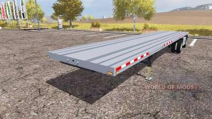 Manac flatbed trailer for Farming Simulator 2013